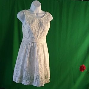 Quicksilver adorable white sleeveless sun dress